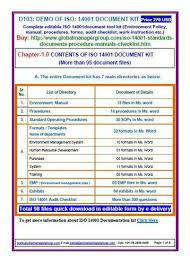 Document Audit Checklist Iso 14001 Certification Consultants In Ahmedabad Gujarat Iso 14001