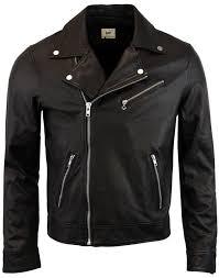 lee retro 1950s leather perfecto biker jacket