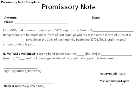 Basic Promissory Note Gorgeous Promissory Note Template Canada Example Of Agreement Letter For