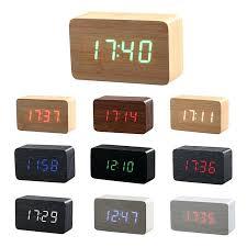 modern desk clocks modern activated wooden led digital alarm clock kids child home bamboo electronic