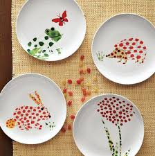Decoration  Whimsical Spring plates