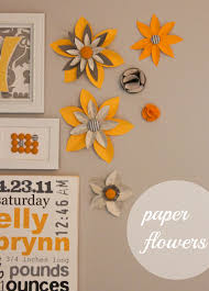 paper flower wall art on paper wall art tutorial with paper flower wall art inspired by family