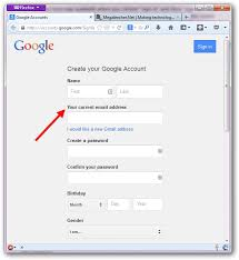 Creating An Email Create Email Id In Gmail Account