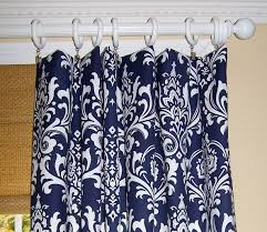 Navy And White Curtains Navy Blue Patterned Curtains