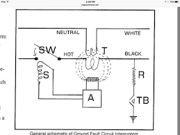what is the wiring schematic of a gfci? quora Switched GFCI Outlet Wiring Diagram as long as current flows normally nothing happens the current flow through the primary and secondary windings of t the top of the diagram will either be 0