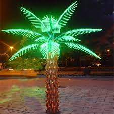 with led light tree light up palm trees led outdoor solar tree lights