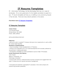 Free Resume Templates It Template Examples Cio Within 85 Appealing