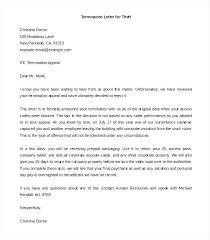 Letters Of Termination Of Employment Examples Sample Of A