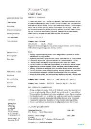 Objective For Resume For Child Care