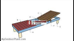 wooden chaise lounge chair plans off 57