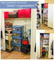 small apartment solutions closet organization before and after