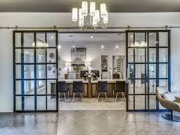 suspended glass barn doors for office