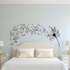 simple dandelion wall art decal for bedroom design