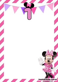 Free Minnie Mouse Birthday Invitations Free Minnie Mouse 1st Birthday Invitations Templates Free