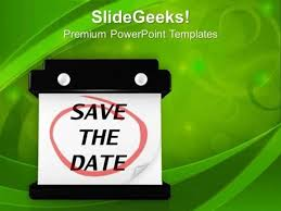 Abstract Calendar Save The Date Ppt Template Powerpoint Template