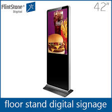 Free Standing Display Board 100 Inch Full Hd 100p Commercial Video Lcd Advertising Display Led 87