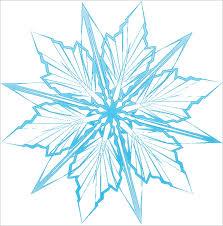 printable star 6 frozen snowflake templates free printable word pdf jpeg