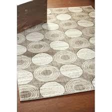 circle area rug grey circles design