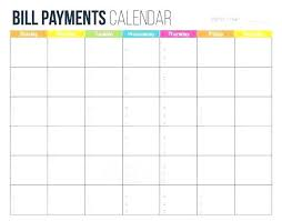 Bill Calendar Template Adorable Free Monthly Calendar Template Excel Bill Payment Schedule Bills Pay