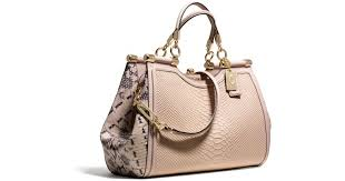 Lyst - Coach Madison Pinnacle Carrie Satchel in Python Embossed Leather in  Pink