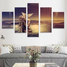 Kopen Goedkoop Abstract Canvas Schilderij Wall Art Poster 5 Panel