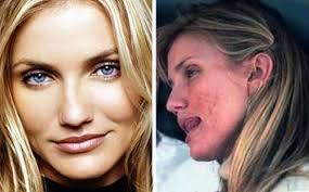 Resultado de imagen de famosas sin maquillaje