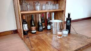 wall mount bar cabinet