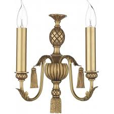 classic traditional antique gold candle style wall light