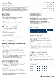 sample resumes for it jobs student graduate resume guide sample plus 10 skills for