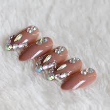 2019 latest fake nails fine high heel