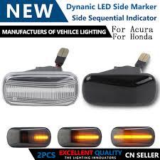 Automotive Amber <b>Dynamic</b> LED Side Marker <b>Turn Signal Blinker</b> ...