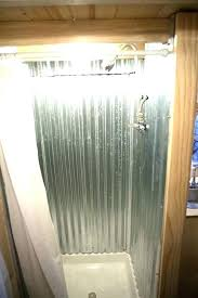shower walls galvanized using corrugated metal for with stall easy showers cool