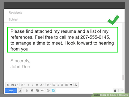 Resume Email Beauteous How To Email A Resume With Pictures WikiHow