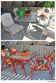Thrifty Decorating Spraypainted Patio Furniture RedoRedoing Outdoor Furniture