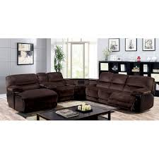 Living Room Furniture Glasgow Furniture Of America Glasgow Transitional Sectional W Wedge Table