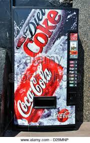 Coca Cola Vending Machine Uk Delectable A Coca Cola Coke Vending Machine In The Uk Stock Photo 48 Alamy