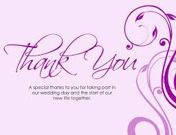 Thank You Birthday Card Sayings Wedding Thank You Card Quotes New