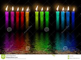Color candles Happy New Year flooding in water