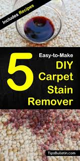 easy to make recipes for 5 homemade carpet stain remover cleaner and deodorizer