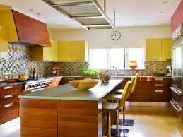 Yellow Kitchen Decorating Kitchen Vibrant Yellow Kitchen Decor With L Shaped Cabinet And