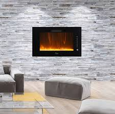 caesar fireplace 30 in wall mount electric fireplace chfp 30a