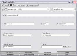 employee contact info employee folder