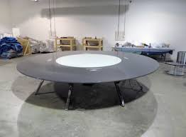 custom large round glass table