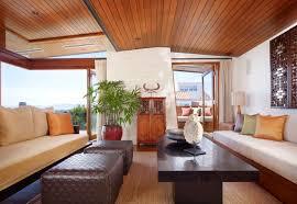 Interior:Tropical Interior Design With Small Indoor Garden Feats Attractive  Floor Pattern Tropical House Warm
