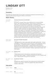 Hr Coordinator Resume Template Best of Hr Coordinator Resume Example Ecozen
