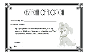 Adoption Birth Plan Template Pet Adoption Certificate Template The Best Collection Toy