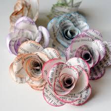 book paper roses