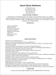 Resume For Entry Level Enchanting Entry Level Electrician Resume Template Best Design Tips