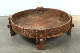 round moroccan coffee table