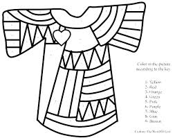 Joseph And The Coat Of Many Colors Coloring Page Equintinfo